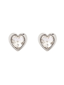 Ted Baker Silver Crystal Heart Earrings