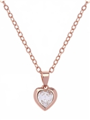 Ted Baker Rose Gold Crystal Heart Necklace