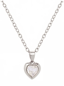 Ted Baker Silver Crystal Heart Necklace
