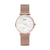CLUSE Minuit La Perle Rose Gold Mesh Watch