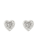 Ted Baker Primm Pavé Crystal Heart Earrings