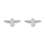 Olivia Burton 3D Bee Silver Stud Earrings
