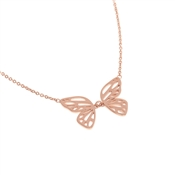 Olivia Burton Butterfly Wing Rose Gold Necklace