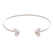Olivia Burton Butterfly Wing Silver Bangle