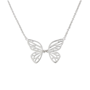 Olivia Burton Butterfly Wing Silver Necklace