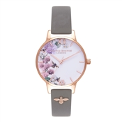 Olivia Burton Enchanted Garden 3D Bee Embellished Strap Watch
