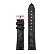 CLUSE La Bohème Black Lizard & Rose Gold Strap
