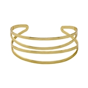 Pilgrim Abbie Gold Plated Open Bangle