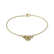 Pilgrim Riona Gold Crystal Bangle