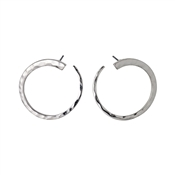 Pilgrim Abbie Silver Plated Circle Earrings