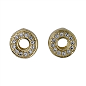 Pilgrim Riona Gold Crystal Stud Earrings