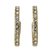 Pilgrim Riona Gold Crystal Hoop Earrings