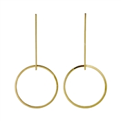 Pilgrim Winter Gold Plated Drop Earrings