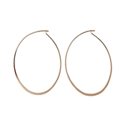Pilgrim Rose Gold Plated Winter Hoop Earrings