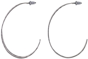 Pilgrim Silver Plated Irregular Hoop Earrings