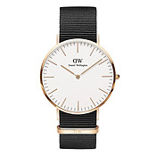 Daniel Wellington Classic Cornwall 40mm Rose Gold & Black NATO Watch