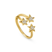 Nomination Stella Gold Triple Star Ring