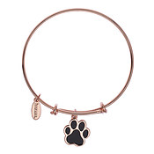 Karma Guide Dogs NI Paw Rose Gold Bangle