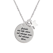 Karma Silver Friendship Necklace