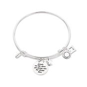 Karma Silver Friendship Bangle