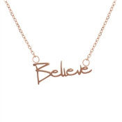 Karma Rose Gold Believe Necklace