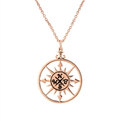 Karma Rose Gold Compass Necklace