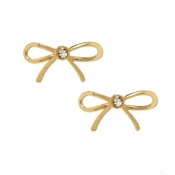 Kate Spade New York Dainty Sparklers Gold Bow Stud Earrings
