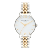 Olivia Burton Midi White Dial Gold & Silver Watch
