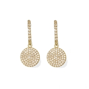 Kate Spade New York Shine On Pavé Gold Drop Earrings