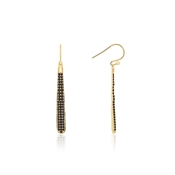Kate Spade New York Shine On Black Pavé Linear Earrings
