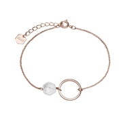 CLUSE Idylle Rose Gold Marble Chain Bracelet