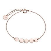 CLUSE Rose Gold Hexagons Chain Bracelet