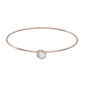 CLUSE Idylle Rose Gold Marble Hexagon Bangle
