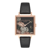 Olivia Burton Signature Floral Big Square Dial Watch