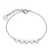CLUSE Silver Hexagons Chain Bracelet