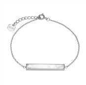 CLUSE Idylle Silver Marble Bar Chain Bracelet