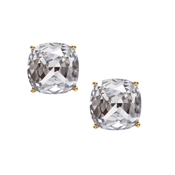 Kate Spade New York Small Clear Square Stud Earrings
