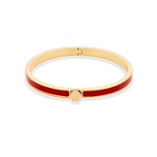 Kate Spade New York The Hinge Red & Gold Bangle