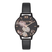 Olivia Burton After Dark Floral Vegan Friendly Black Watch