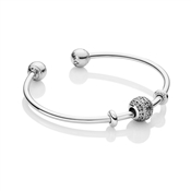 PANDORA Glittering Shapes Open Bangle
