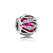 PANDORA Royal Red Natures Radiance Charm