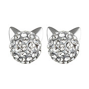 Karl Lagerfeld Silver Choupette Earrings