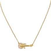 Karl Lagerfeld Gold Guitar Necklace