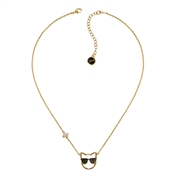 Karl Lagerfeld Gold Sunglasses Choupette Necklace
