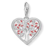 Thomas Sabo Red Tree Of Life Heart Charm