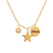 Karma Wish Upon A Star Gold Necklace