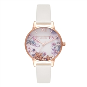 Olivia Burton Busy Bees Nude & Rose Gold Watch
