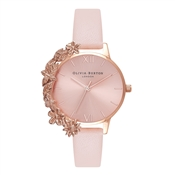 Olivia Burton Case Cuff Nude Peach & Rose Gold Watch