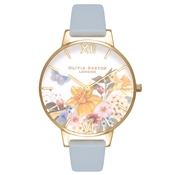 Olivia Burton Enchanted Garden Blue Chalk Watch
