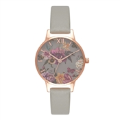 Olivia Burton Dark Bouquet Grey & Rose Gold